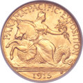 Commemorative Gold, 1915-S $2 1/2 Panama-Pacific Quarter Eagle MS67 NGC. CAC....