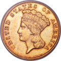 Three Dollar Gold Pieces, 1854-D $3 VF35 PCGS. Gold CAC....