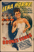 "Movie Posters:Black Films, The Bronze Venus (Toddy Pictures, R-1943). One Sheet (27"" X 41""). Black Films.. ..."