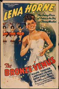 "The Bronze Venus (Toddy Pictures, R-1943). One Sheet (27"" X 41""). Black Films. AKA The Duke is Tops"