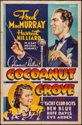 """Movie Posters:Comedy, Cocoanut Grove (Paramount, 1938). Other Company One Sheet (27"""" X41""""). Comedy.. ..."""