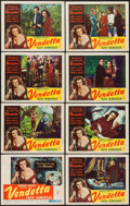 "Movie Posters:Crime, Vendetta (RKO, 1950). Lobby Card Set of 8 (11"" X 14""). Crime.. ...(Total: 8 Items)"