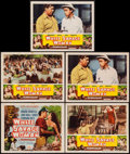 "Movie Posters:Adventure, White Savage and Other Lot (Realart, R-1953). Title Lobby Card andLobby Cards (7) (11"" X 14""). Adventure.. ... (Total: 8 Items)"