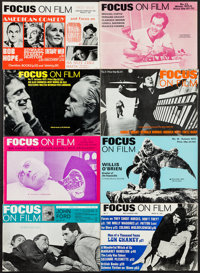 "Focus on Film Lot (Tantivy Press, 1970s-1980s). British Magazines (41) (Multiple Pages, 6.5"" X 9.5""). Miscella..."