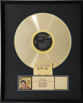 Music Memorabilia:Awards, Elvis Presley King Creole RIAA Gold Record Award (RCA 3733,1958)....