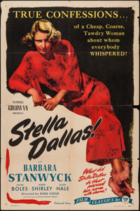 "Stella Dallas (Film Classics, R-1944). One Sheet (27"" X 41""). Drama"