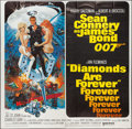 "Movie Posters:James Bond, Diamonds are Forever (United Artists, 1971). International Six Sheet (77"" X 77""). James Bond.. ..."
