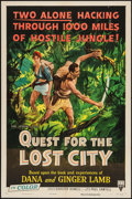 "Movie Posters:Documentary, Quest for the Lost City (RKO, 1954). One Sheet (27"" X 41""). Documentary.. ..."