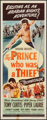 """The Prince Who Was a Thief (Universal International, 1951). Insert (14"""" X 36""""). Adventure"""