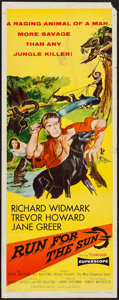 "Movie Posters:Adventure, Run for the Sun (United Artists, 1956). Insert (14"" X 36"").Adventure.. ..."