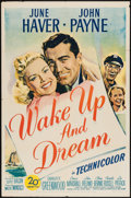 "Movie Posters:Adventure, Wake Up and Dream (20th Century Fox, 1946). One Sheet (27"" X 41""). Adventure.. ..."