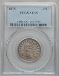 Seated Quarters: , 1878 25C AU55 PCGS. PCGS Population (7/98). NGC Census: (0/85).Mintage: 2,260,800. Numismedia Wsl. Price for problem free ...