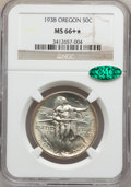 Commemorative Silver, 1938 50C Oregon MS66+ ★ NGC. CAC....