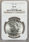 Peace Dollars, 1935 $1 MS66 NGC....