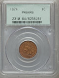 Proof Indian Cents: , 1874 1C PR64 Red and Brown PCGS. PCGS Population (99/43). NGCCensus: (40/54). Mintage: 700. Numismedia Wsl. Price for prob...