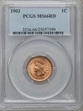 Indian Cents, 1903 1C MS66 Red PCGS....