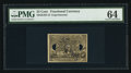 Fractional Currency:Second Issue, Milton 2E25F.3f 25¢ Second Issue Experimental PMG Choice Uncirculated 64.. ...