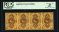Fractional Currency:First Issue, Strip of Four Fr. 1230 5¢ First Issue PCGS Apparent Extremely Fine 45.. ...