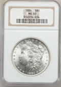 Morgan Dollars: , 1884 $1 MS65 NGC. NGC Census: (1871/280). PCGS Population(2037/445). Mintage: 14,070,875. Numismedia Wsl. Price forproble...
