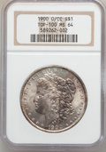 Morgan Dollars: , 1900-O/CC $1 MS64 NGC. Ex: Top-100. NGC Census: (799/188). PCGSPopulation (1821/790). Numismedia Wsl. Price for problem f...