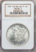 Morgan Dollars: , 1878 7TF $1 Reverse of 1879 MS64 NGC. NGC Census: (1118/202). PCGSPopulation (1263/369). Mintage: 4,300,000. Numismedia Ws...