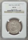 Seated Half Dollars: , 1846 50C Tall Date AU53 NGC. NGC Census: (0/0). PCGS Population(8/26). ...