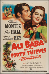 "Ali Baba and the Forty Thieves (Universal, 1944). One Sheet (27"" X 41""). Fantasy"