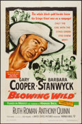 """Movie Posters:Action, Blowing Wild (Warner Brothers, 1953). One Sheet (27"""" X 41"""").Action.. ..."""