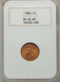 Indian Cents: , 1884 1C MS64 Red NGC. NGC Census: (13/28). PCGS Population (47/52).Mintage: 23,261,742. Numismedia Wsl. Price for problem ...