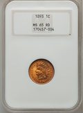 Indian Cents: , 1893 1C MS65 Red NGC. NGC Census: (73/25). PCGS Population (80/24).Mintage: 46,642,196. Numismedia Wsl. Price for problem ...