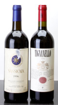Italy, Tignanello . 2004 Antinori lbsl Bottle (1). Sassicaia . 1996Tenuta San Guido bn, lbsl, tl Bottle (1)... (Total: 2 Btls.)