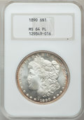 Morgan Dollars: , 1890 $1 MS64 Prooflike NGC. NGC Census: (90/8). PCGS Population(81/14). Numismedia Wsl. Price for problem free NGC/PCGS c...