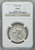 Walking Liberty Half Dollars: , 1923-S 50C XF40 NGC. NGC Census: (10/307). PCGS Population(21/457). Mintage: 2,178,000. Numismedia Wsl. Price for problem ...