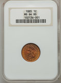 Indian Cents: , 1885 1C MS64 Red NGC. NGC Census: (13/21). PCGS Population (66/67).Mintage: 11,765,384. Numismedia Wsl. Price for problem ...