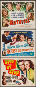 """Movie Posters:Crime, Step by Step and Others Lot (RKO, 1946). Title Lobby Cards (3) (11""""X 14""""). Crime.. ... (Total: 3 Items)"""