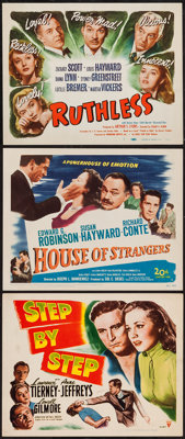"Step by Step and Others Lot (RKO, 1946). Title Lobby Cards (3) (11"" X 14""). Crime. ... (Total: 3 Items)"