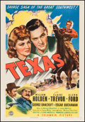 "Movie Posters:Western, Texas (Columbia, 1941). One Sheet (27"" X 41""). Western.. ..."