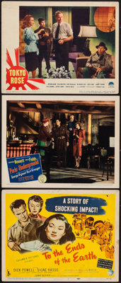 "To the Ends of the Earth and Others Lot (Columbia, 1947). Title Lobby Card and Lobby Cards (2) (11"" X 14""). Ex..."