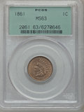 Indian Cents: , 1861 1C MS63 PCGS. PCGS Population (221/641). NGC Census:(125/472). Mintage: 10,100,000. Numismedia Wsl. Price forproblem...