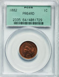 Proof Indian Cents: , 1882 1C PR64 Red PCGS. PCGS Population (26/34). NGC Census: (5/9).Mintage: 3,100. Numismedia Wsl. Price for problem free N...