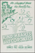 """Movie Posters:Comedy, Kind Hearts and Coronets (Continental, 1950). One Sheet (27"""" X 41""""). Comedy.. ..."""