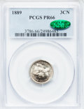 Proof Three Cent Nickels: , 1889 3CN PR66 PCGS. CAC. PCGS Population (251/51). NGC Census:(225/50). Mintage: 3,436. Numismedia Wsl. Price for problem ...