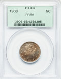 Proof Liberty Nickels: , 1908 5C PR65 PCGS. PCGS Population (108/44). NGC Census: (113/76).Mintage: 1,620. Numismedia Wsl. Price for problem free N...