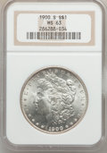 Morgan Dollars: , 1900-S $1 MS63 NGC. NGC Census: (826/1097). PCGS Population(1463/2164). Mintage: 3,540,000. Numismedia Wsl. Price for prob...