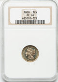 Proof Three Cent Nickels: , 1888 3CN PR65 NGC. NGC Census: (368/181). PCGS Population(403/192). Mintage: 4,582. Numismedia Wsl. Price for problemfree...