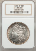 Morgan Dollars: , 1888-S $1 MS62 NGC. NGC Census: (724/1928). PCGS Population(1119/3751). Mintage: 657,000. Numismedia Wsl. Price for proble...