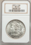 Morgan Dollars: , 1892-O $1 MS63 NGC. NGC Census: (1518/1468). PCGS Population(2407/2024). Mintage: 2,744,000. Numismedia Wsl. Price for pro...