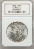 Morgan Dollars: , 1902-S $1 MS62 NGC. NGC Census: (377/1688). PCGS Population(605/3125). Mintage: 1,530,000. Numismedia Wsl. Price for probl...