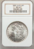 Morgan Dollars: , 1900-O/CC $1 MS64 NGC. NGC Census: (799/188). PCGS Population(1821/790). Numismedia Wsl. Price for problem free NGC/PCGS ...