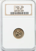 Proof Three Cent Nickels: , 1873 3CN Closed 3 PR65 NGC. NGC Census: (111/29). PCGS Population(98/13). Mintage: 1,100. Numismedia Wsl. Price for proble...